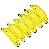 Materiale: la banana gialla è stampata in materiale PVC Dimensioni: la dimensione massima delle banane gialle gonfiate può avere 60 cm / 23,6 pollici Leggero per trasportare portatile, colore brillante, adatto per la maggior parte delle feste estive,...