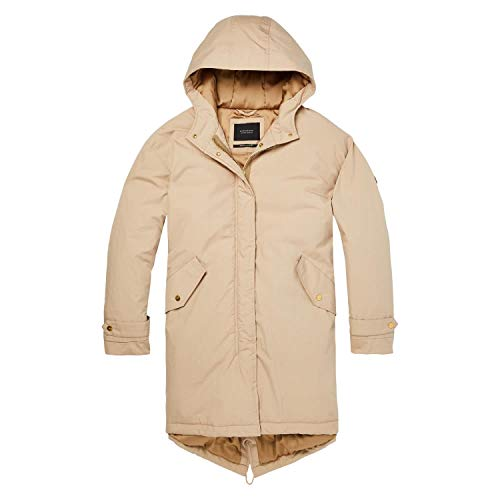 Maison Scotch Damen Parka Oversized Technical Parka Jacket 148450 Sand S