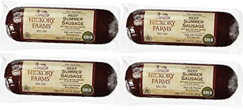 Hickory Farms Beef Summer Sausage 10 Ounce (Pack of 4)