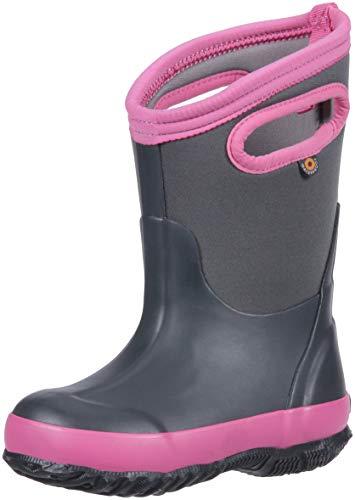 Bogs Regen- und Winterstiefel für Kinder, wasserdicht, isoliert, Gummistiefel für Jungen, Mädchen und Kleinkinder, mehrere Farboptionen, (Matt Dunkelgrau), 37 EU