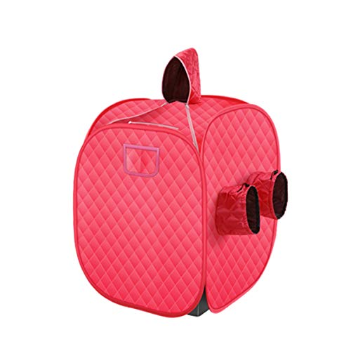 Portable Steam Sauna Spa for Home,Personal Indoor Sauna for Weight Loss,Slimming Body,Detox,Relieve Stress Fatigue,Red