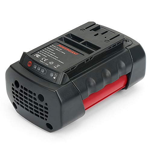 POWERGIANT BAT836 Batería para Bosch 36V 4.0Ah Batería de Repuesto de Iones de Litio Compatible con BAT836 BAT818 BAT810 BAT840 D70771 (A) 12607336 003 2607336004 2607336107 2607336108