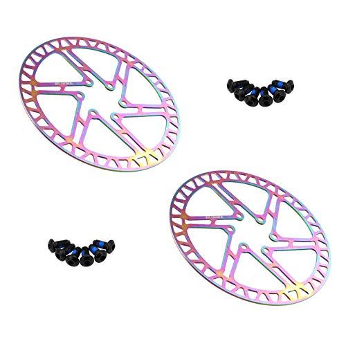 COCKE Rotores De Freno De Disco Flotante para Bicicleta, Disco De Freno De Bicicleta De 160 Mm, Rotores De Acero Inoxidable, Parte del Rotor De Freno De Disco Estándar (2 Piezas),A