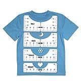 4 pcs regla de alineación de camisetas regla de acrílico guía de la regla de la camiseta tabla de tallas fabricación de camisetas herramienta de medición para vinilo, coser