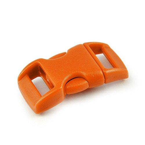 Ganzoo Fermeture par Clip (15 mm) pour Paracord Bracelet, Colliers de Chien, Sac à Dos