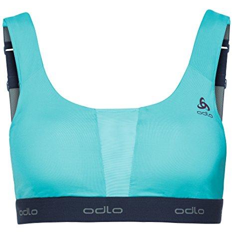 Odlo Padded Medium Soutien-Gorge de Sport pour Femme XS Blue Radiance