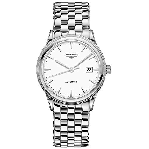 Longines orologio Flagship 40mm bianco acciaio uomo automatico...