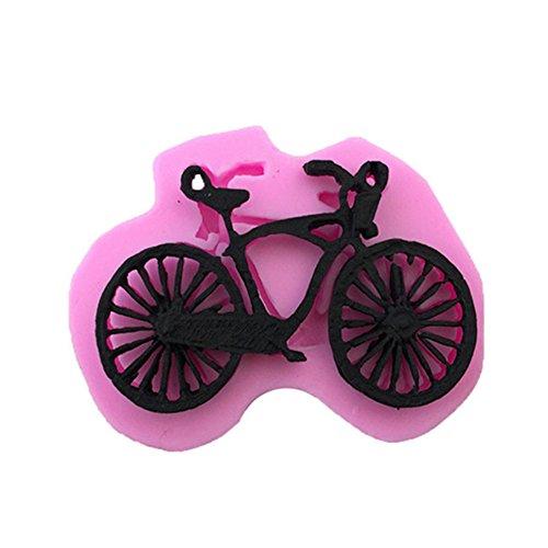 Mackur Silikonform mit Fahrrad Form Backen Formen Fondant Ausstecher für Schokolade Gelee Süßigkeiten 1 Stück