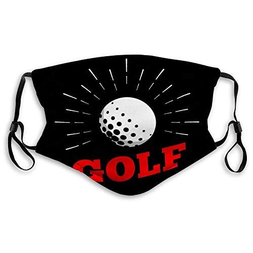 Mundschutz Golfball Logo Icon Sun Burtst Waschbar Atmungsaktive Staubdicht Schutz Bandana mit Filter