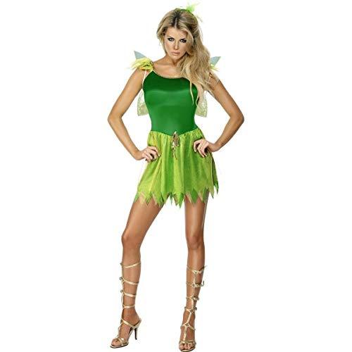 Smiffys, Damen Waldfee Kostüm, Kleid, Haarschmuck und Flügel, Größe: M, 22154