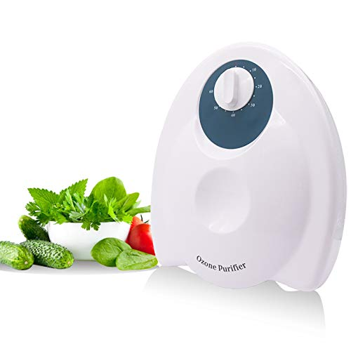 Tyouki Ozon-generator Purifier Beweglicher Ozongenerator-Luft-Wasser-Sterilisator Ionisator mit Timer für Home/Office/Lebensmittel/Gemüse/Obst (400mg / h)