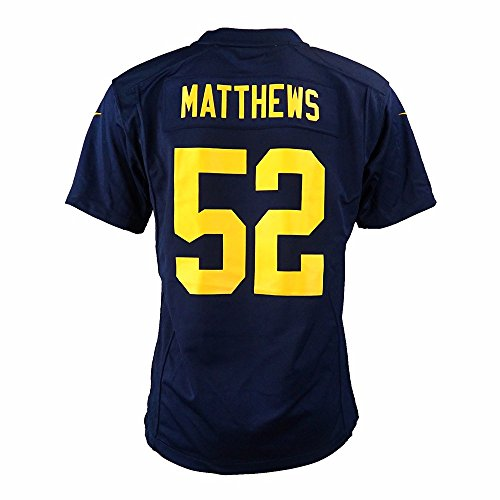 Nike Clay Matthews Green Bay Packers NFL Navy Game Team Jersey for Youth (M)