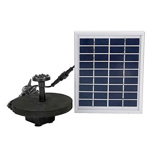 eecoo Solar Wasserpumpen Kit, 2W Solar Brunnen Wasserpumpe mit Verkleidung, schwimmende Springbrunnen Pumpenset für Gartenbrunnen Aquarium Wasserpumpe