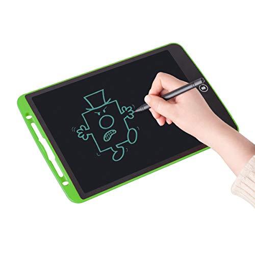 Upgrow LCD Writing Tablet, 12 Zoll LCD-Schreibtafeln, Grafiktabletts Schreibplatte Digital Schreibtafel Papierlos Schreiben Tabletten für Kinder Schule Graffiti Malen Notizen, mit Schutztasche (Grün)