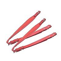 60-120ベースアコーディオンユニバーサルショルダーストラップのためのアコーディオンショルダーストラップ調節可能なフェイクレザー 多機能 楽器 スペアパーツ 楽器デバッグアクセサリー (Color : Red)