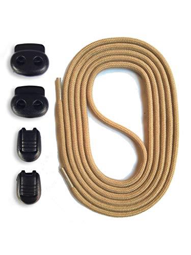 SNORS Schnürsystem - SAND, 120cm - elastische Schnürsenkel mit Schnellverschluß -