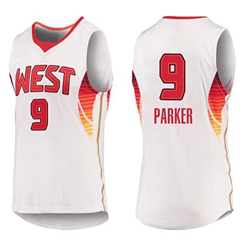 Rencai Tony Parker # 9 degli Uomini di Pallacanestro Jersey, San Antonio Spurs all-Star, Natale Retro Swingman Jersey Shirt Senza Maniche (Color : 3, Size : M)
