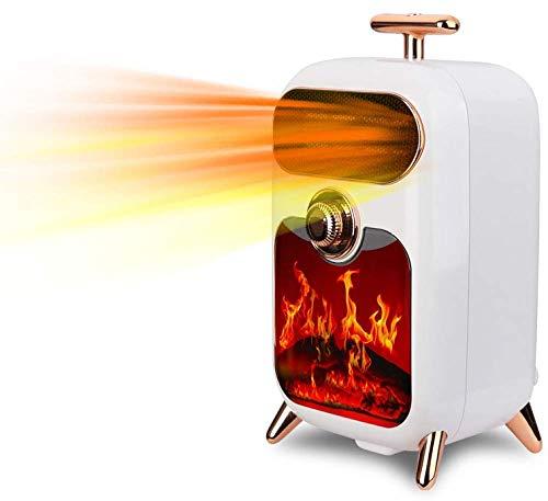 Calefactor Cocina eléctrica retro eléctrica 900W estufa de leña calentador chimenea W efecto de llama de fuego libre de pie estufa de chimenea de madera luz de fuego pinkelectric temperatura ajustable