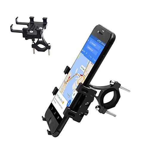 FETESNICE Soporte Movil Bici, Soporte Movil Moto Bicicleta, Anti Vibración Porta Telefono Motocicleta Compatible con 4-7' Smartphones