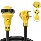 Kohree 25' Power Extension Cord 30 Amp with Grip Handle, 30M/30F Locking Adapter Plug, LED...