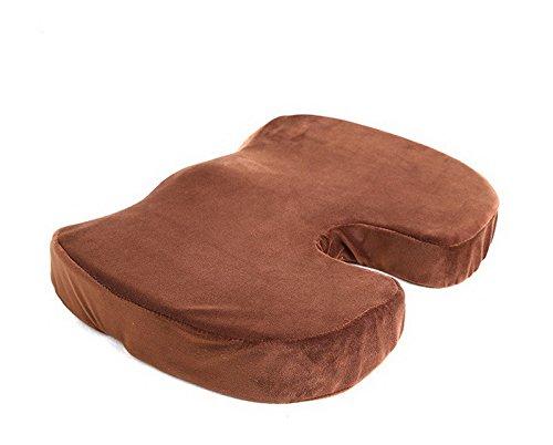 OUSSIRRO Coccyx orthopédique Mousse à mémoire de Forme Coussin d'assise pour Chaise de Voiture Bureau Home inférieur sièges Coussin de Massage