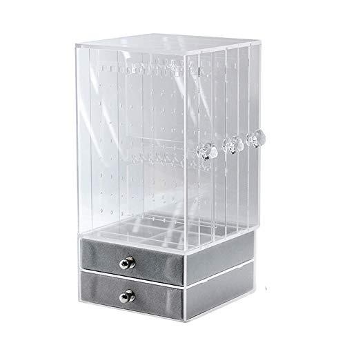 Hanyan – Caja de Almacenamiento de joyería de acrílico Transparente con 3 cajones Verticales y 2…