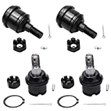 Detroit Axle - 4WD 8-Lug Front Upper and Lower Ball Joints for Dodge Ram 1500 2500 3500-4pc Set