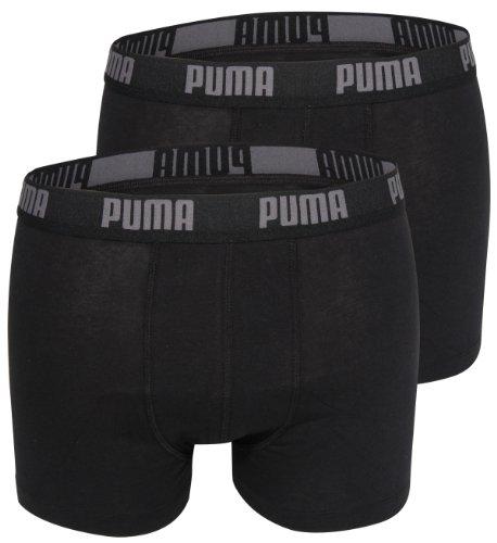 Puma Herren Boxer Basic Unterhosen 4er Pack in verschiedenen Farben 521015001 (black/black (230), L)