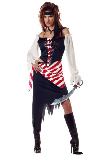 Adult Ruby The Pirate Beauty Costume Large Black