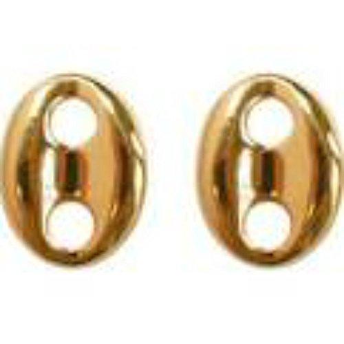 Bijoux du Monde - Pendientes de grano de café chapados en oro