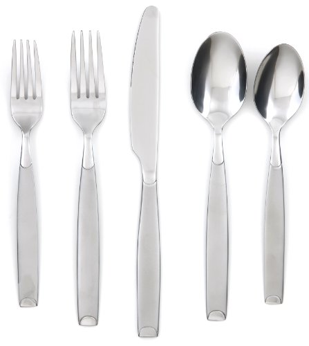 Cambridge Silversmiths Kiona Frost 20-Piece Flatware Silverware Set, Stainless Steel, Service for 4, Includes Forks/Spoons/Knives