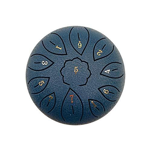 Tambor de lengua de acero de 6 pulgadas con 11 notas de acero de Tongue Drum C Key Handpan Drum Kit