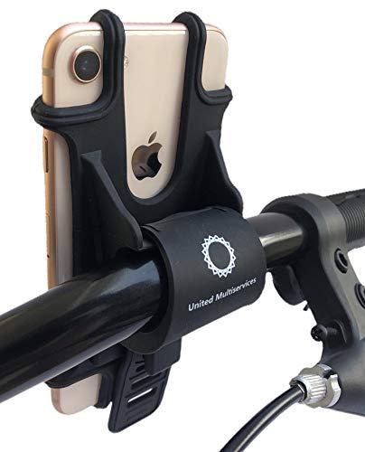 United Multiservices Porta Cellulare per Bici Universale, Sport, Moto, Supporto Bici Smartphone, Manubrio Universale Bici Moto MTB per Tutti Gli Smartphone e Dispositivi Elettronici 4.5-6.5 Pollici