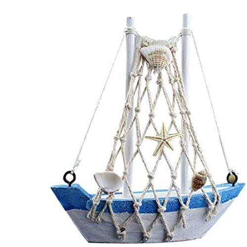 Chem Modelo de velero Estilo Retro Popular de Madera del Barco de navegación Mini hogar Modelo del Ornamento de la decoración del Barco de Vela Modelo