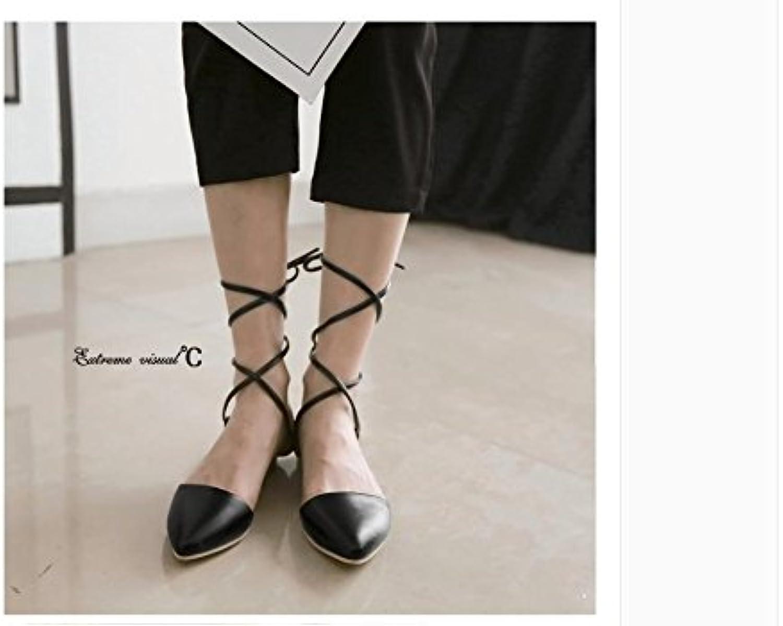 WHW Women's Flat Heel Low Heel Fleece Wedding Dress Party Fish Mouth Heel Pearl Tassel Sandals
