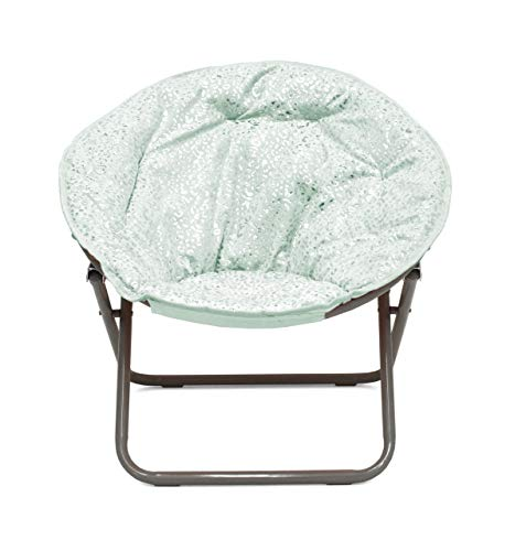 Heritage Kids Cheetah Mint Kids Saucer Chair