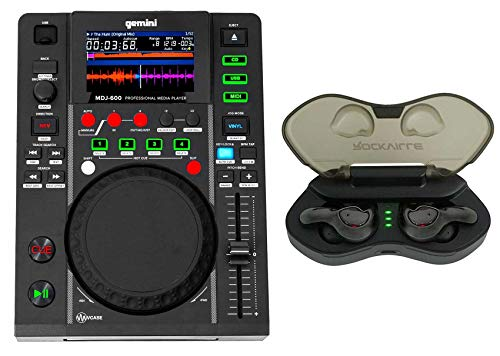 Great Deal! Gemini MDJ-600 Single Tabletop USB/CD Media Player DJ MIDI Controller+Cyberbuds