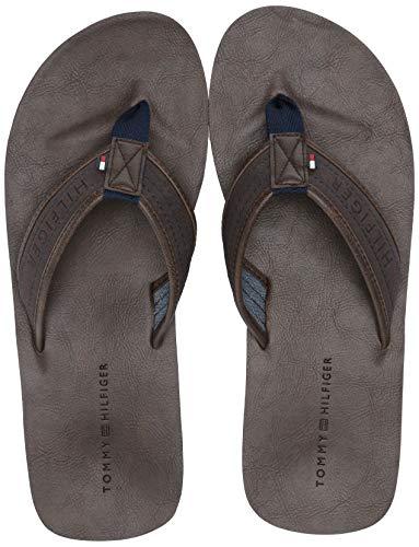 Tommy Hilfiger Men's Dill Flip-Flop, dark brown, 9 M US