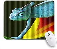 NIESIKKLAマウスパッド 爬虫類ヤモリトカゲの草食種 ゲーミング オフィス最適 高級感 おしゃれ 防水 耐久性が良い 滑り止めゴム底 ゲーミングなど適用 用ノートブックコンピュータマウスマット