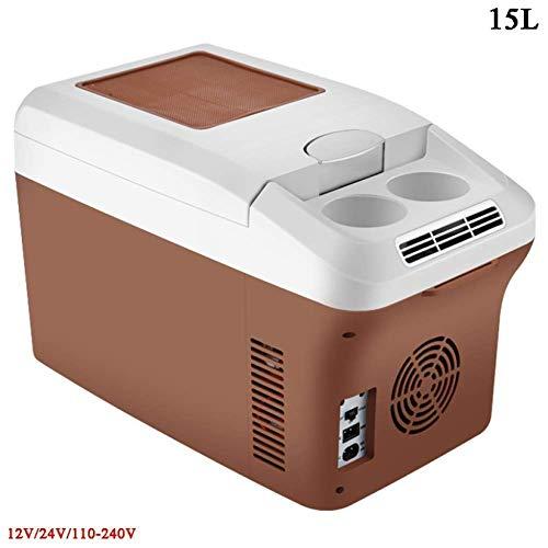 Voiture de refroidissement Boîte électrique de refroidissement Boîte 24V / 12V / 230V 15L mini portable VITRINE multifonctionnel camping en plein air for les voitures compactes Camion Ménage à chaud /