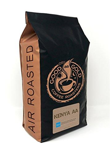 KENYA AA Coffee Beans, Medium Roast, 5 Pound Bulk Bag, Whole Bean - Good As Gold Coffee Roasters