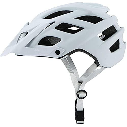 MISS YOU Hombre de Bicicleta de Casco MTB, Casco de Bicicleta Transpirable y Ligero Mujeres con Visera, MTB Casco Juvenil Mujeres, Cascos para Bicicletas para Adultos 55-61 cm (Color : White)