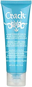 """CRACK HAIR FIX Styling Creme - Multi-Tasking, Anti-Frizz, Leave-In Styling Aid With Protection from Humidity, Chlorine, Heat Treatments & Sun ( 2.5 Oz / 75 Milliliter ) """