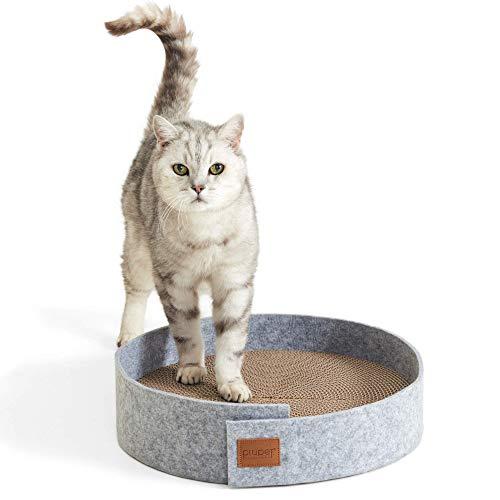 PiuPet® - Tabla rascador con hierba para gatos, 38 cm de di
