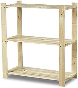 MODO24 Scaffale in legno 3ripiani 90X 80X 38Keller Regal Lager Libreria per B 21Hit
