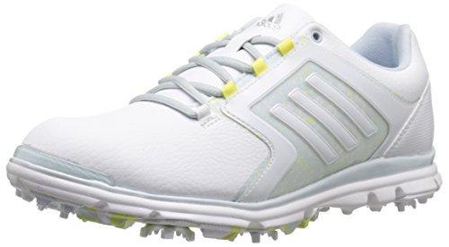 adidas Women's adistar Tour 6-spike Golf Shoe, Ftwr White/Soft Blue-tmag/Sunny Lime-tmag - 5 B(M) US