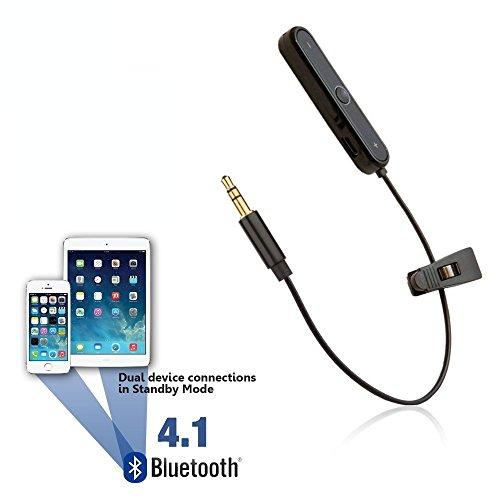REYTID Bluetooth Adapter Compatible with Beats Solo, Solo2, Studio, Studio 2.0, MIXr & Pro Detox Headphones - Wireless Converter Receiver Compatible with Apple Earphones On-Ear Over-Ear