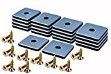 Filzada® 18x Almohadillas de Teflón para Muebles atornillar - 25 x 25 mm (cuadrado) - Deslizadores de muebles/deslizadores de alfombras PTFE (Teflón) incl. tornillos