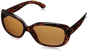 Foster Grant Women s Election Polarized Wrap Sunglasses Tortoise/Brown 58 mm