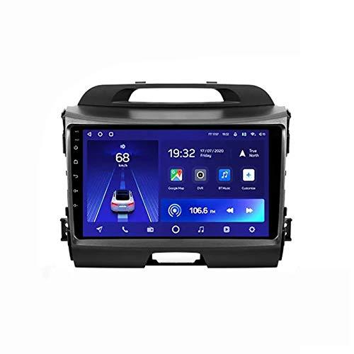2 DIN Radio De Coche, Autoradio con Bluetooth Manos Libres 9' Pantalla Táctil/Mirroring De La Pantalla/FM Tuner Apoyo DSP Navegación GPS, para Kia Sportage 3 SL 2010-2016,Quad Core,WiFi 1+16